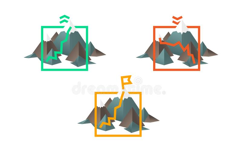 Διευκρινισμένο διάγραμμα με το φραγμό και τους λόφους στατιστικών απεικόνιση αποθεμάτων