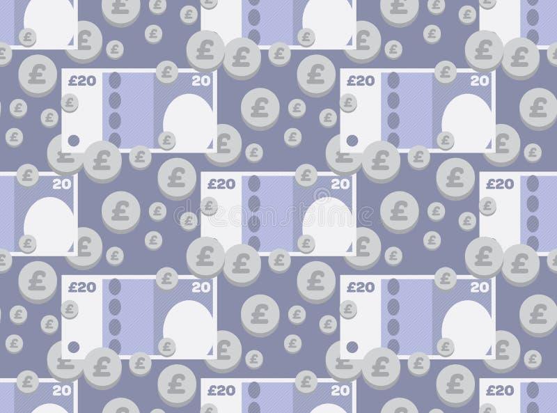 Διευκρινισμένο εικονίδιο βρετανικών χρημάτων στοκ φωτογραφία με δικαίωμα ελεύθερης χρήσης