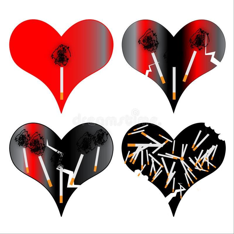 διευκρινισμένο καρδιά κά&pi ελεύθερη απεικόνιση δικαιώματος