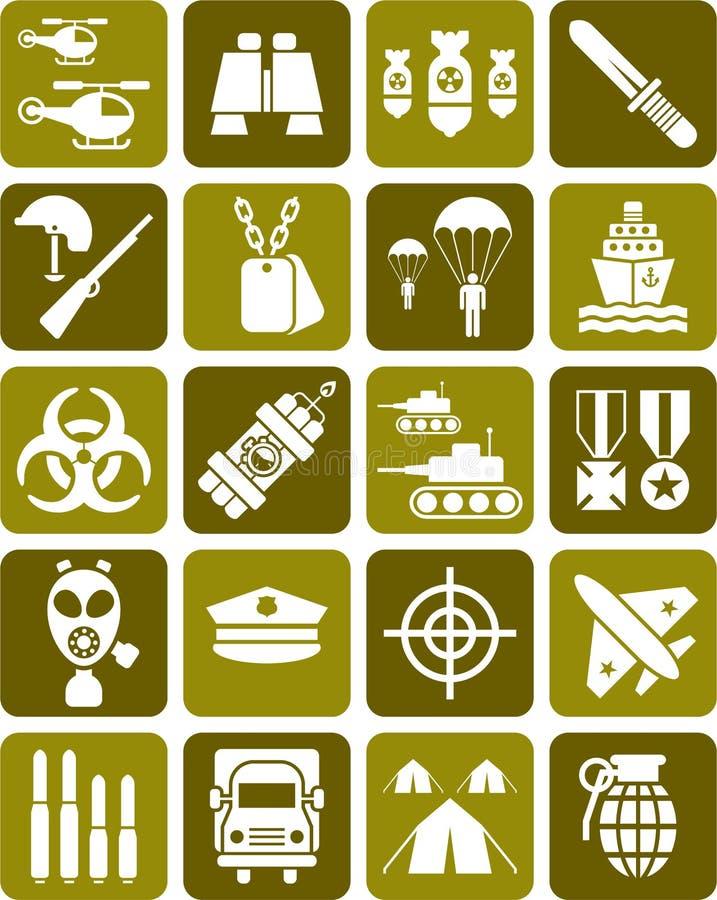 Σύνολο στρατιωτικών σημαδιών ελεύθερη απεικόνιση δικαιώματος