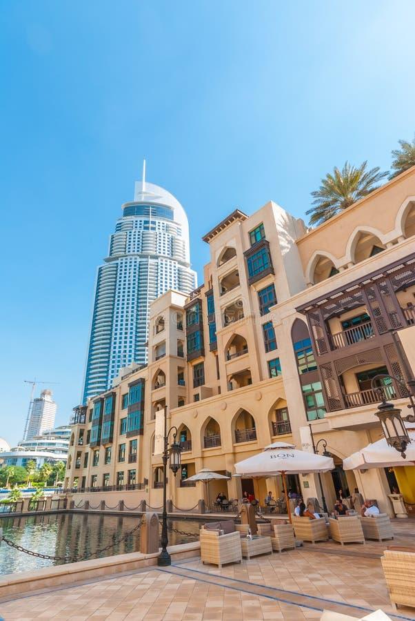 Διεύθυνση ξενοδοχείων κεντρικός στο Ντουμπάι στοκ φωτογραφία
