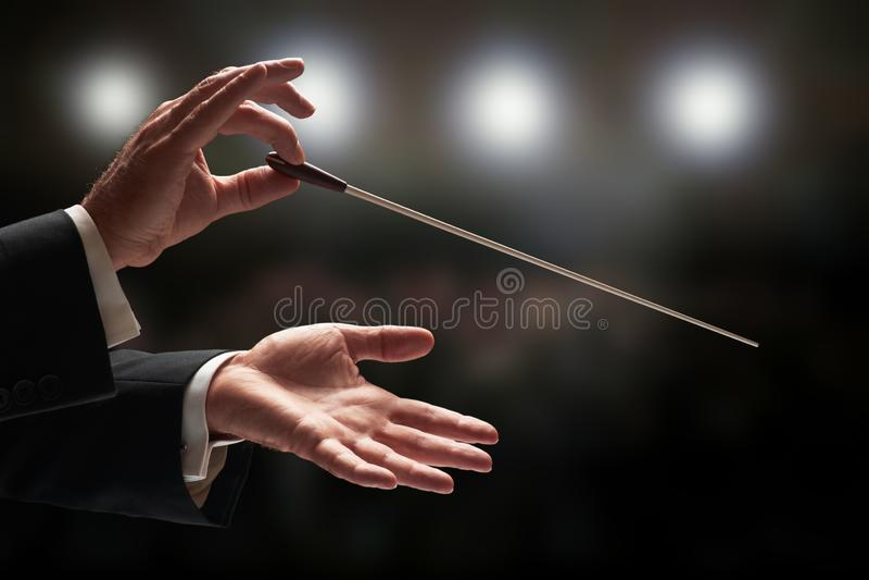 διεύθυνση της ορχήστρας &a στοκ φωτογραφία με δικαίωμα ελεύθερης χρήσης