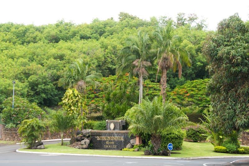 Διηπειρωτικό θέρετρο σε Papeete, Ταϊτή στοκ εικόνες με δικαίωμα ελεύθερης χρήσης