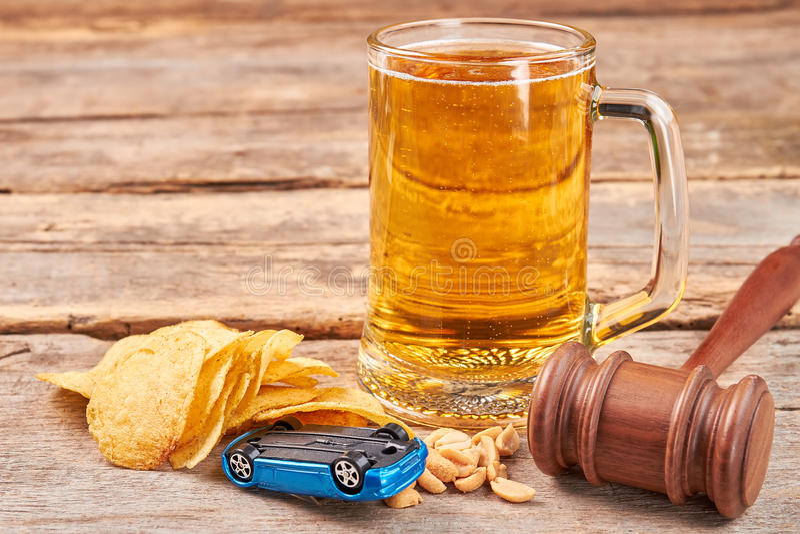 Δικαιοσύνη για το μεθυσμένο οδηγό στοκ εικόνα
