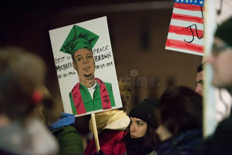 Δικαιοσύνη για το Michael Brown στοκ φωτογραφίες με δικαίωμα ελεύθερης χρήσης