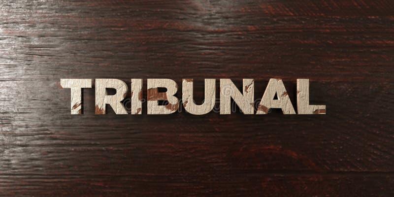 Δικαστήριο - βρώμικος ξύλινος τίτλος στο σφένδαμνο - τρισδιάστατο δικαίωμα ελεύθερη εικόνα αποθεμάτων ελεύθερη απεικόνιση δικαιώματος