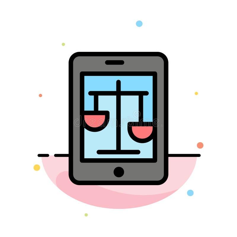 Δικαστήριο, Διαδίκτυο, νόμος, νομικό, σε απευθείας σύνδεση αφηρημένο επίπεδο πρότυπο εικονιδίων χρώματος απεικόνιση αποθεμάτων