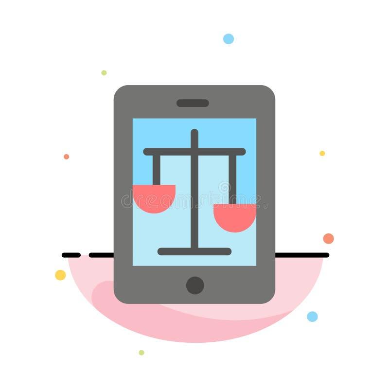Δικαστήριο, Διαδίκτυο, νόμος, νομικό, σε απευθείας σύνδεση αφηρημένο επίπεδο πρότυπο εικονιδίων χρώματος ελεύθερη απεικόνιση δικαιώματος