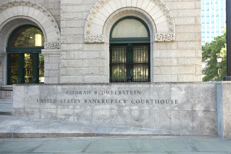 Δικαστήριο Ηνωμένης πτώχευσης στοκ εικόνες