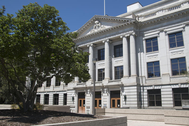 Δικαστήριο στο Γκρήνσμπορο, NC (βόρεια Καρολίνα) στοκ φωτογραφία με δικαίωμα ελεύθερης χρήσης