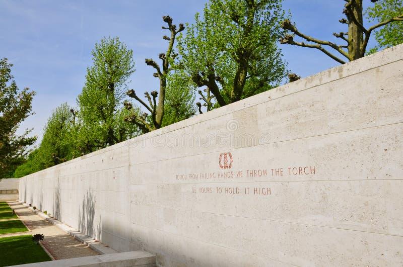 Δικαστήριο της τιμής στο αμερικανικό νεκροταφείο Margraten στοκ φωτογραφία