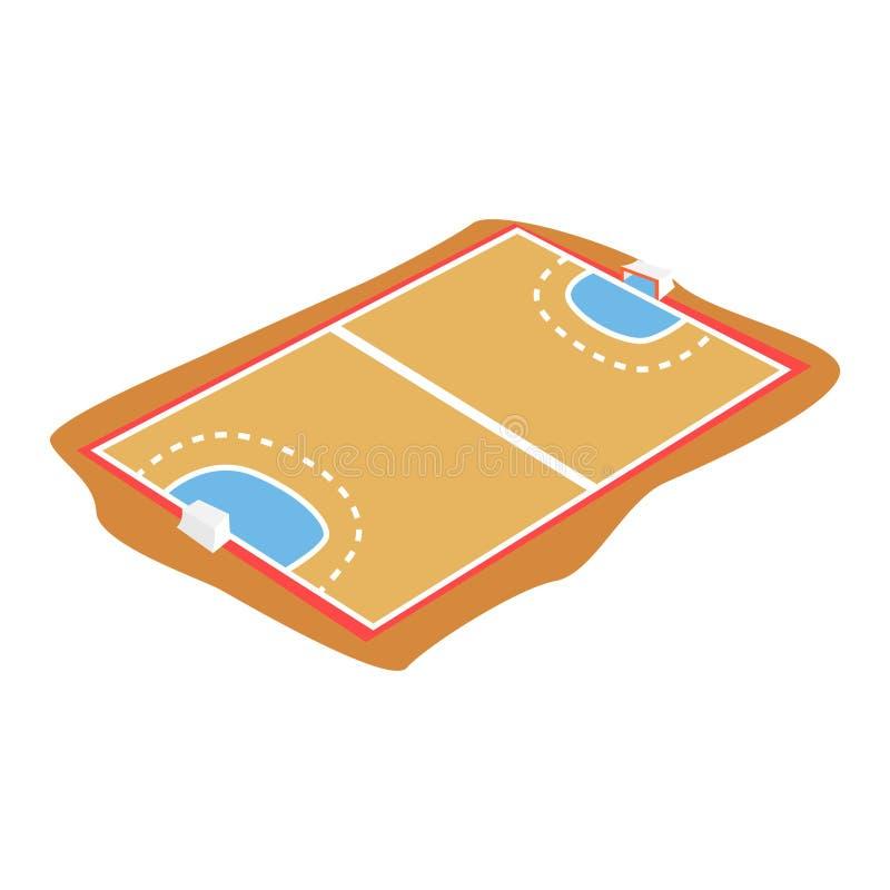 Δικαστήριο χάντμπολ, διανυσματική απεικόνιση κινούμενων σχεδίων παιδικών χαρών ελεύθερη απεικόνιση δικαιώματος