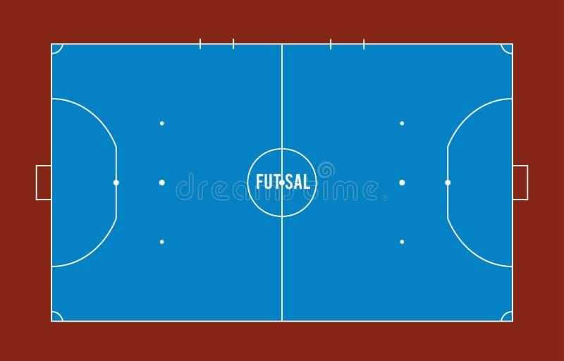 Δικαστήριο Futsal ή τοπ απεικόνιση άποψης τομέων διανυσματική απεικόνιση