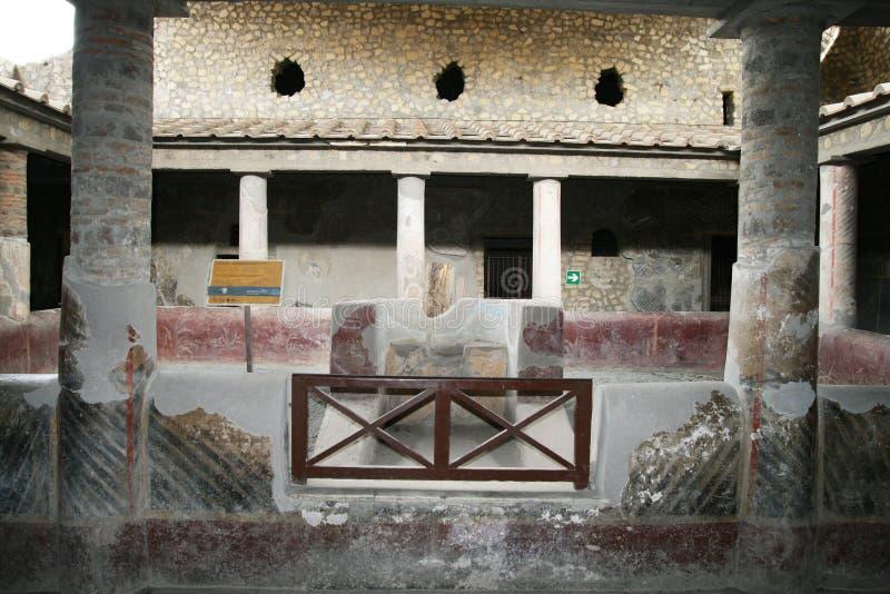 Δικαστήριο Oplontis στοκ φωτογραφία