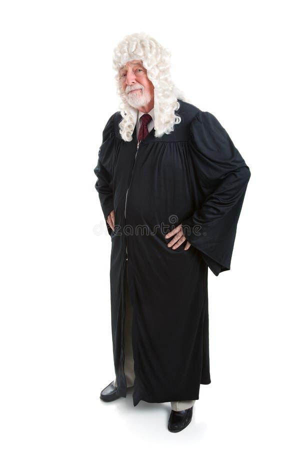 Δικαστής στην περούκα - πλήρες σώμα στοκ φωτογραφία με δικαίωμα ελεύθερης χρήσης