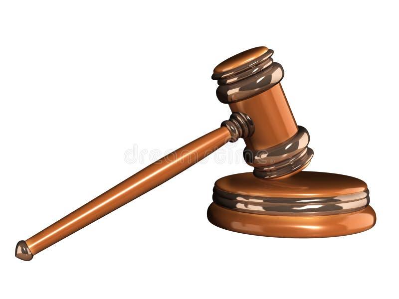 Δικαστικό τρισδιάστατο gavel απεικόνιση αποθεμάτων