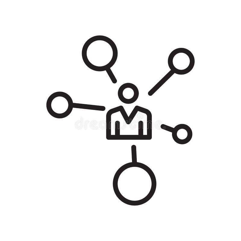 Δικτύων σημάδι και σύμβολο εικονιδίων διανυσματικό που απομονώνονται στο άσπρο υπόβαθρο απεικόνιση αποθεμάτων