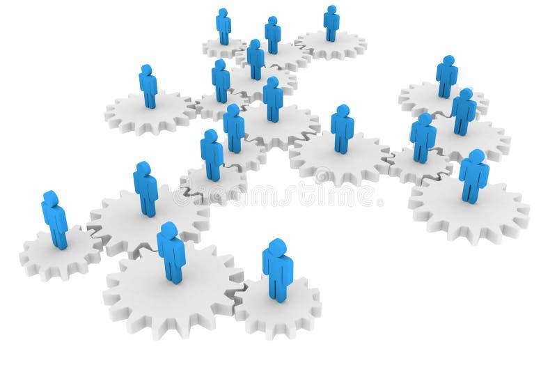 δικτύωση έννοιας κοινωνι& διανυσματική απεικόνιση