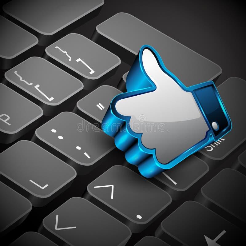 δικτύωση αριθμητικών πληκτρολογίων πληκτρολογίων κοινωνική ελεύθερη απεικόνιση δικαιώματος