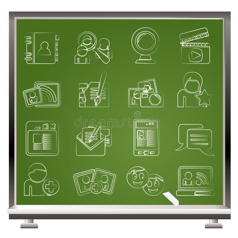 δικτύωση εικονιδίων επικοινωνίας κοινωνική διανυσματική απεικόνιση