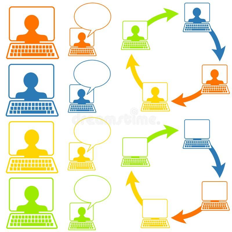 δικτύωση εικονιδίων κοινωνική ελεύθερη απεικόνιση δικαιώματος