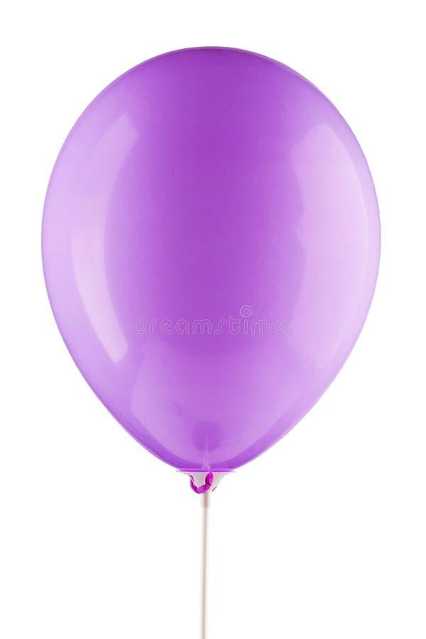 Διογκωμένο βιολέτα μπαλόνι αέρα στοκ εικόνα με δικαίωμα ελεύθερης χρήσης