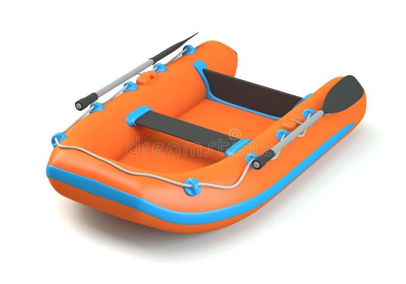 Διογκώσιμη βάρκα διανυσματική απεικόνιση