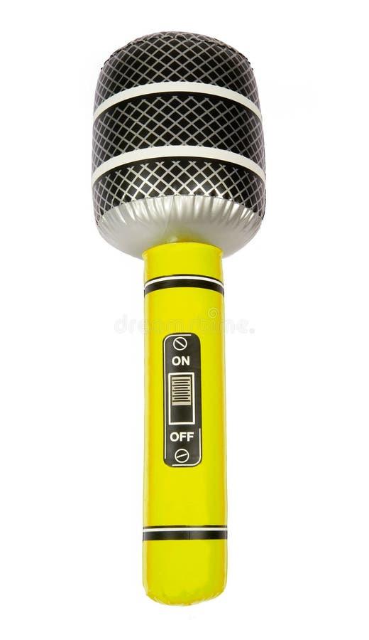 διογκώσιμο παιχνίδι μικροφώνων κίτρινο στοκ φωτογραφία