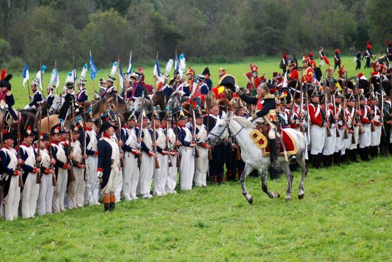 Διοικητής και ο στρατός του στοκ φωτογραφία