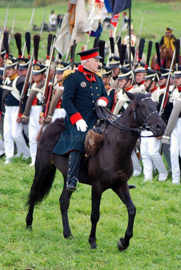 Διοικητής και ο στρατός του στοκ φωτογραφία με δικαίωμα ελεύθερης χρήσης