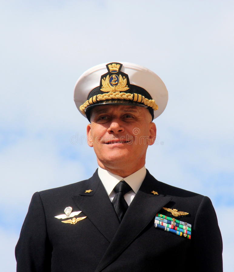 Διοικητής ναυάρχων της Ναυτικής Ακαδημίας Λιβόρνου Giuseppe Cavo Dragone στοκ εικόνες με δικαίωμα ελεύθερης χρήσης