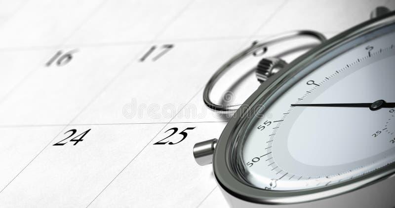 διοικητικός χρόνος ελεύθερη απεικόνιση δικαιώματος