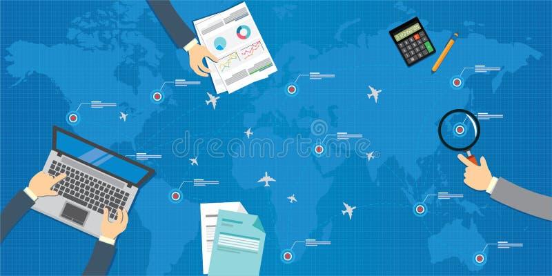 Διοικητικό σχέδιο αεροπλάνων αερογραμμών απεικόνιση αποθεμάτων