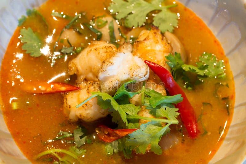 Διοσκορέα Goong του Tom - ταϊλανδική σούπα γαρίδων στοκ εικόνες