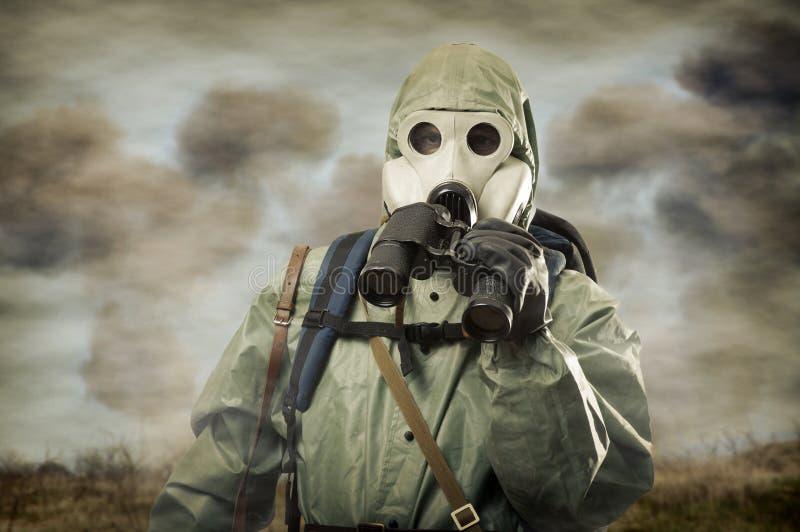 διοφθαλμική μάσκα ατόμων αερίου στοκ εικόνες