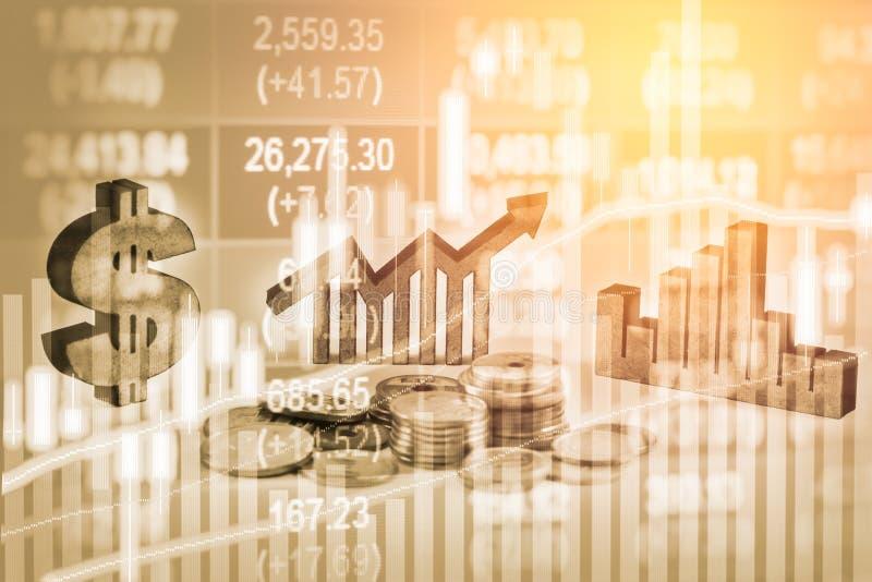Διπλά επιχειρησιακά στηρίγματα έκθεσης στην οικονομική αύξηση αποθεμάτων econom στοκ φωτογραφία με δικαίωμα ελεύθερης χρήσης