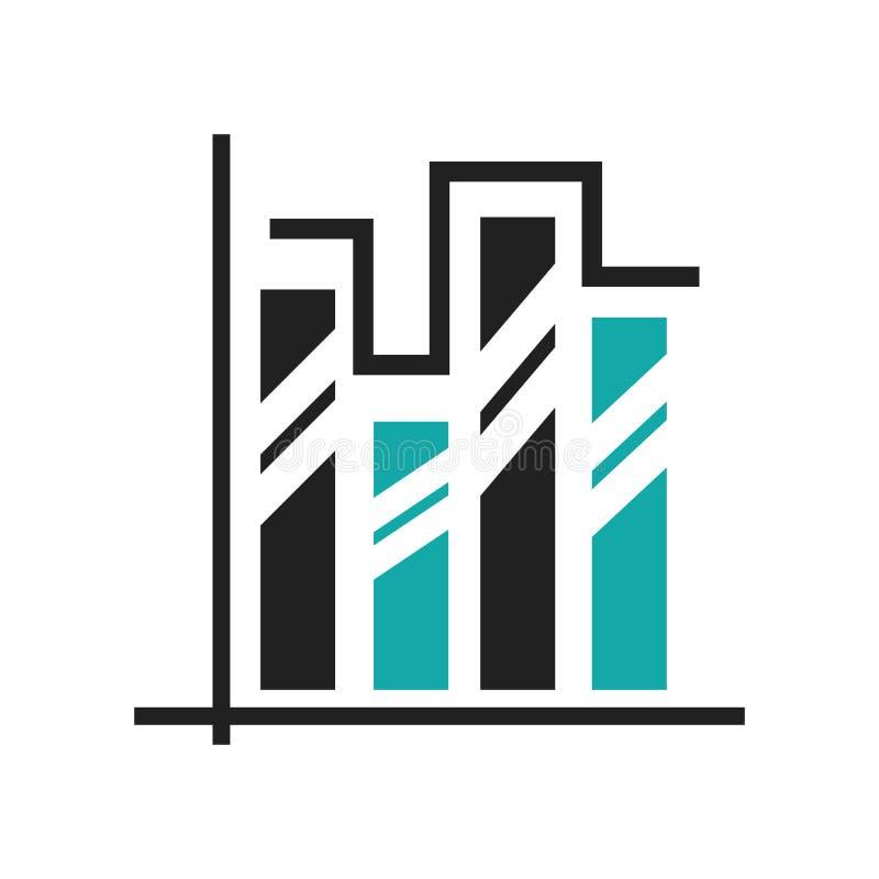 Διπλά σημάδι και σύμβολο εικονιδίων φραγμών analytics στοιχείων γραφικά διανυσματικά που απομονώνονται στο άσπρο υπόβαθρο, στοιχε ελεύθερη απεικόνιση δικαιώματος