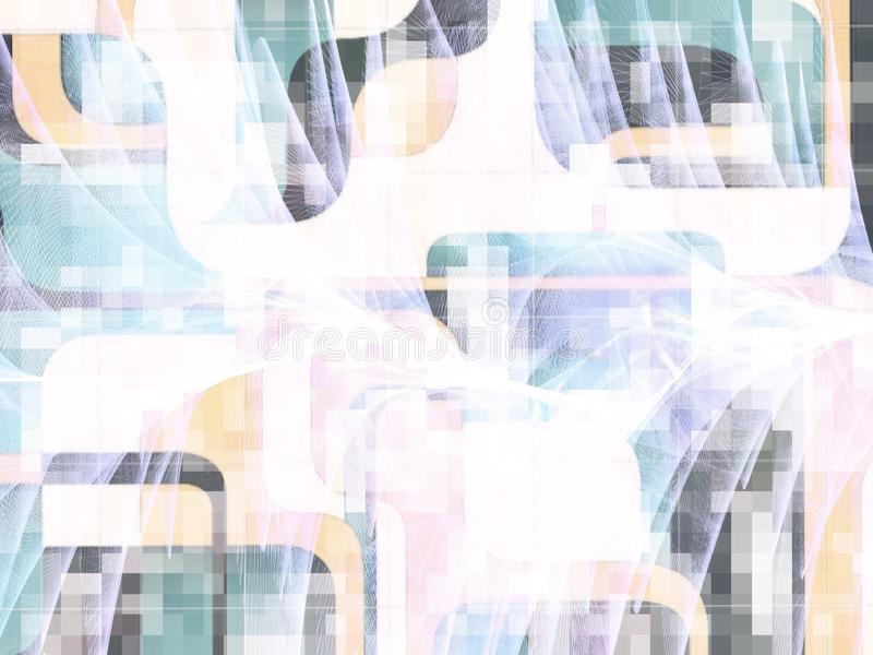 Διπλή τοίχος-τέχνη έκθεσης στην κρητιδογραφία στοκ φωτογραφίες με δικαίωμα ελεύθερης χρήσης