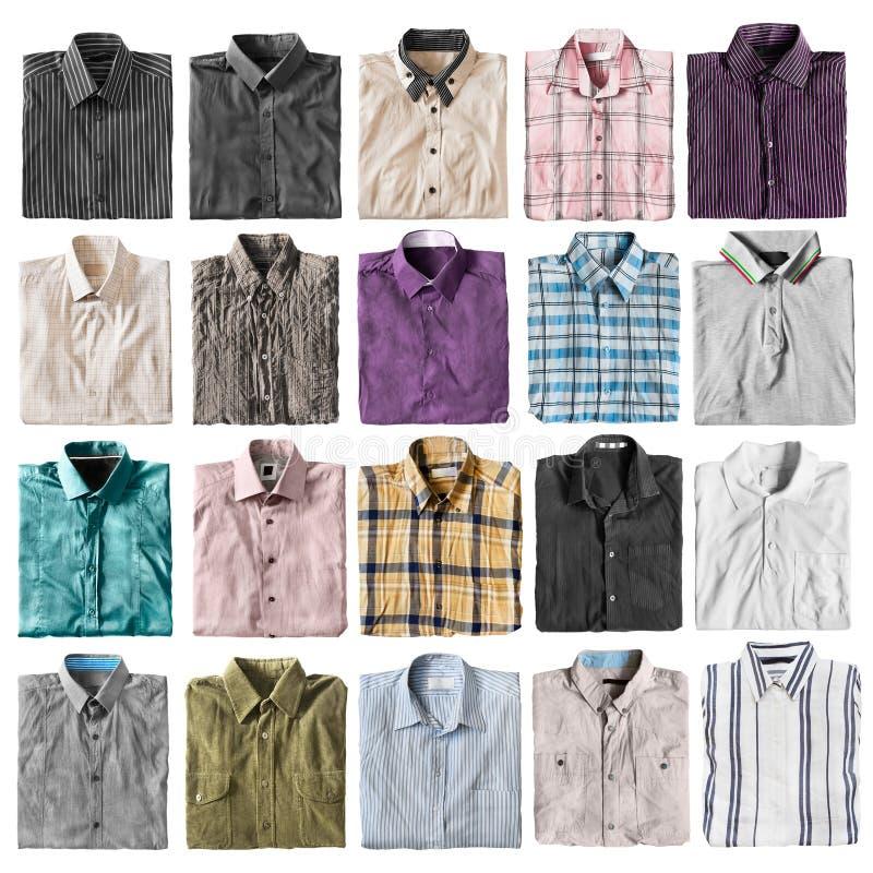 Διπλωμένα πουκάμισα που απομονώνονται στοκ εικόνα με δικαίωμα ελεύθερης χρήσης