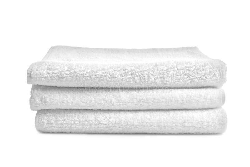 Διπλωμένες καθαρές πετσέτες υφασμάτων στοκ εικόνα με δικαίωμα ελεύθερης χρήσης