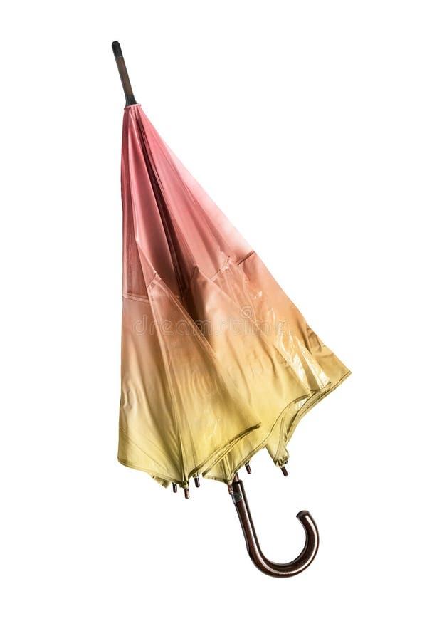 Διπλωμένη ομπρέλα που απομονώνεται στοκ εικόνα με δικαίωμα ελεύθερης χρήσης