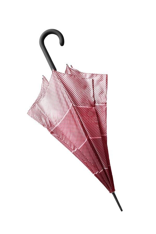 Διπλωμένη ομπρέλα που απομονώνεται στοκ φωτογραφία με δικαίωμα ελεύθερης χρήσης