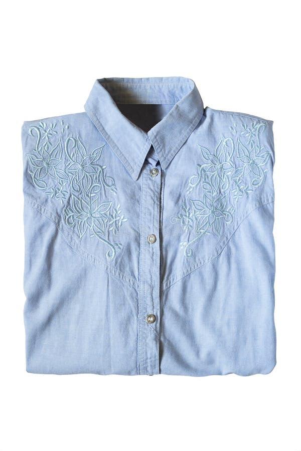 Διπλωμένο πουκάμισο που απομονώνεται στοκ εικόνα με δικαίωμα ελεύθερης χρήσης