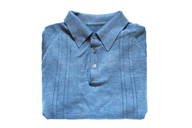 Διπλωμένο πουκάμισο που απομονώνεται στοκ φωτογραφίες