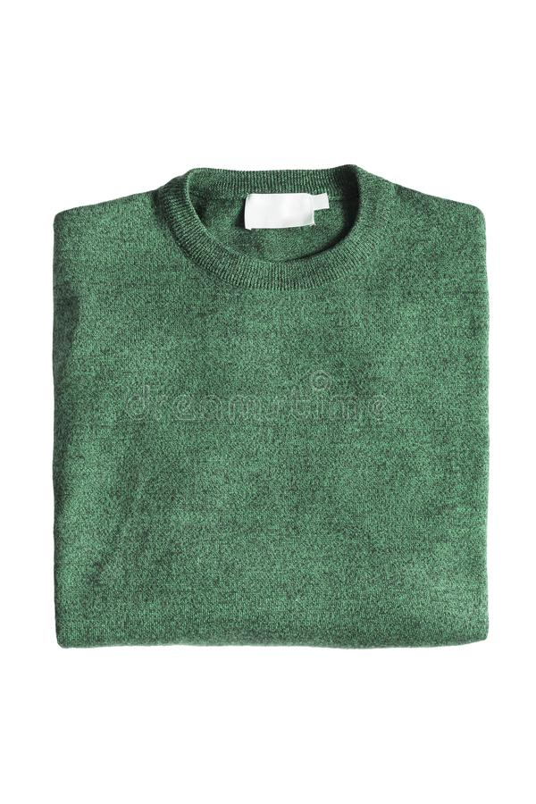 Διπλωμένο πουλόβερ που απομονώνεται στοκ φωτογραφίες