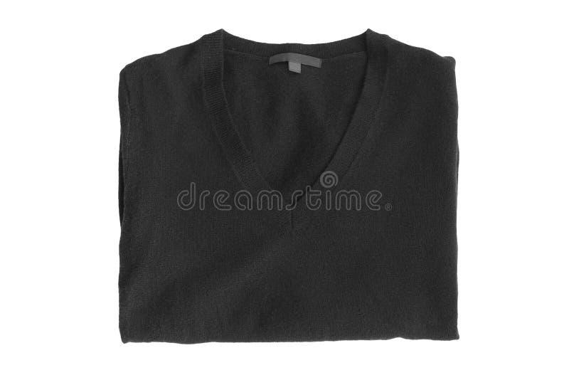 Διπλωμένο πουλόβερ που απομονώνεται στοκ φωτογραφία