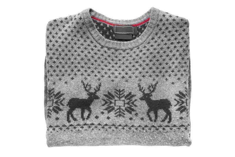 Διπλωμένο πουλόβερ που απομονώνεται στοκ φωτογραφία με δικαίωμα ελεύθερης χρήσης