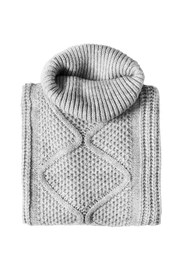 Διπλωμένο πουλόβερ που απομονώνεται στοκ εικόνες με δικαίωμα ελεύθερης χρήσης