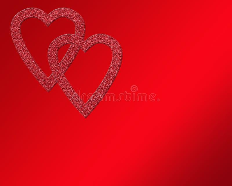 διπλός βαλεντίνος καρδιών στοκ εικόνες με δικαίωμα ελεύθερης χρήσης