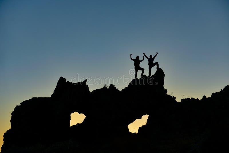 Διπλός ορειβάτης που το έκανε από κοινού στοκ φωτογραφίες